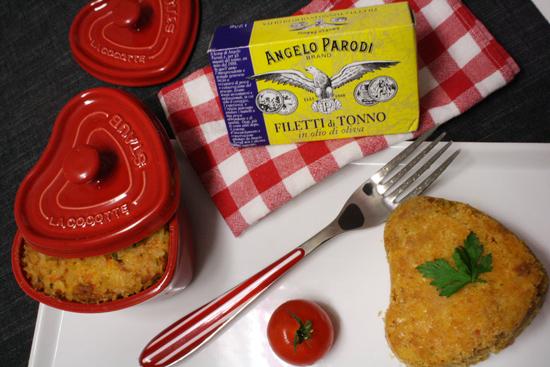 Cocottine di riso alla marinara con filetti di tonno Angelo Parodi di Morena Menegatti