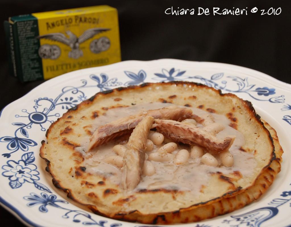 Panigacci di Kamut con Crema di Fagioli Cannellini e Sgombro di Chiara De Ranieri