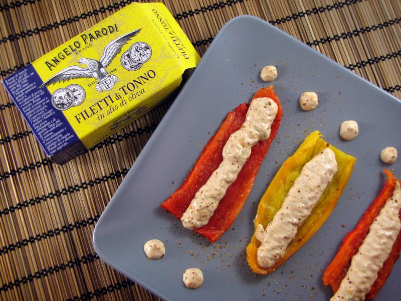 Peperoni elettrici con filetti di tonno in olio di oliva Angelo Parodi di Pixeljuice