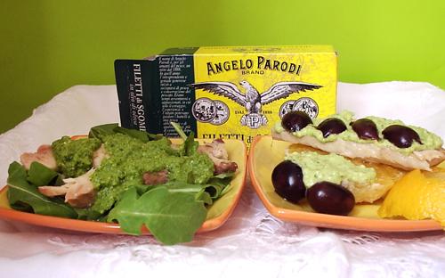 """""""La leggerezza"""", ovvero filetti di sgombro di Angelo Parodi ai due pesti"""