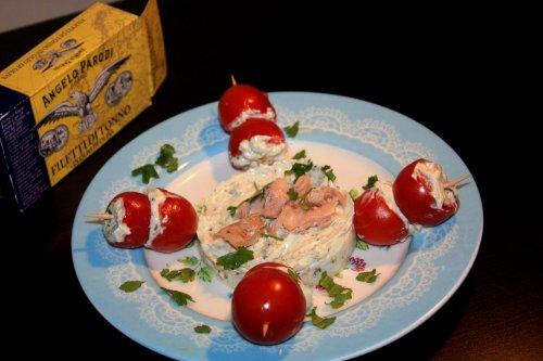 Pomodorini cremosi con tortino al tonno di In cucina con Roberta