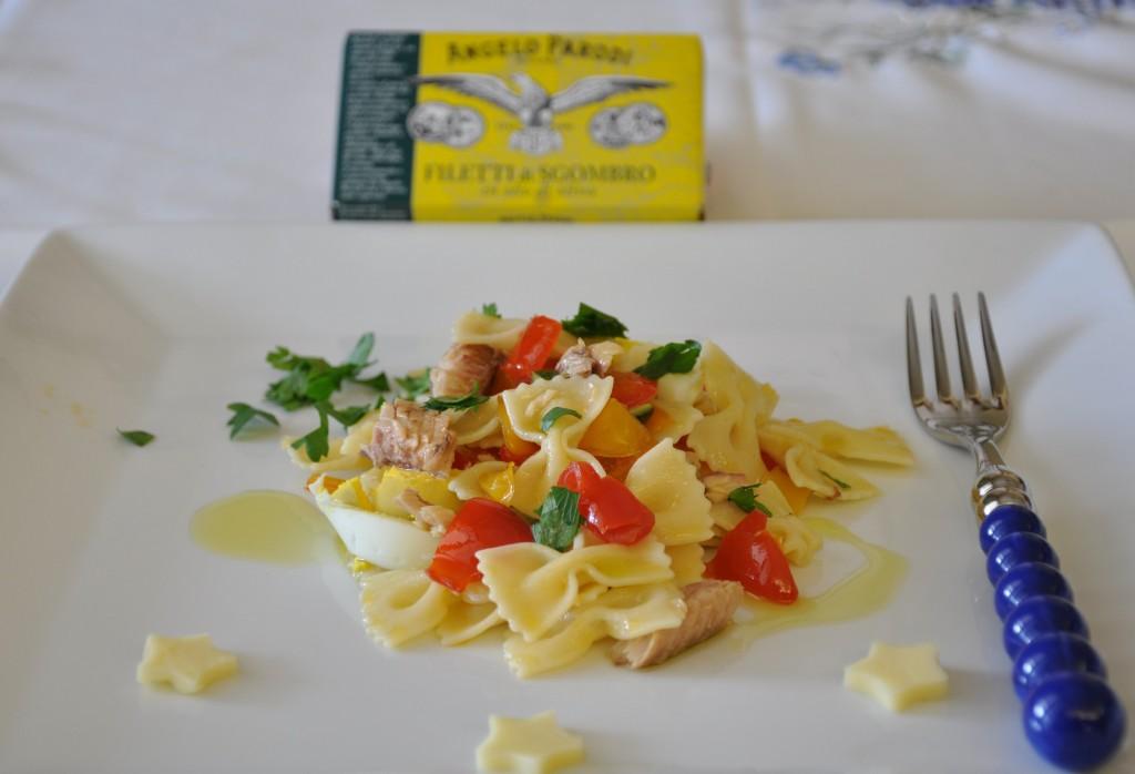 Pasta fredda con verdure e sgombro di Federica, La cucina di Federica