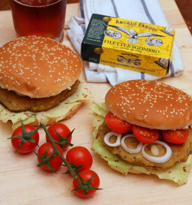 Hamburger di ceci e sgombro Angelo Parodi di Chiara, food&crafts