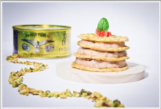 Lasagnetta di grana e pistacchi al tonno, di Barbara L'angolo cottura di Babi
