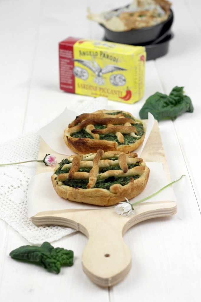 Food blogger dl mese: Tartellette salate con sardine piccanti, ricotta e spinaci by Claudia