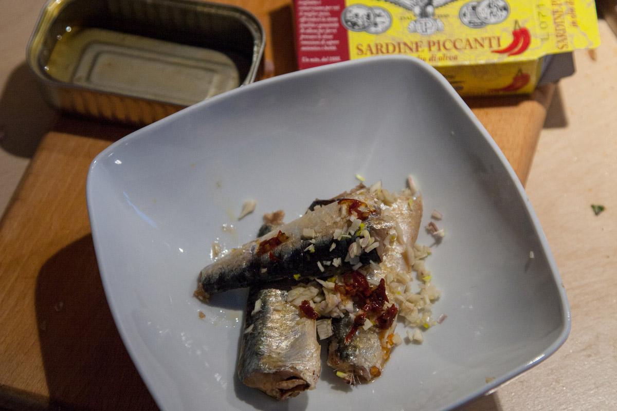 Gyoza alle sardine piccanti