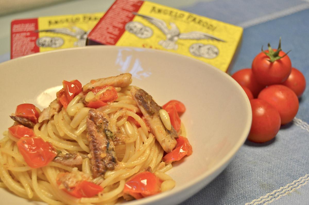 Spaghettini alle sardine e pinoli di Chiara
