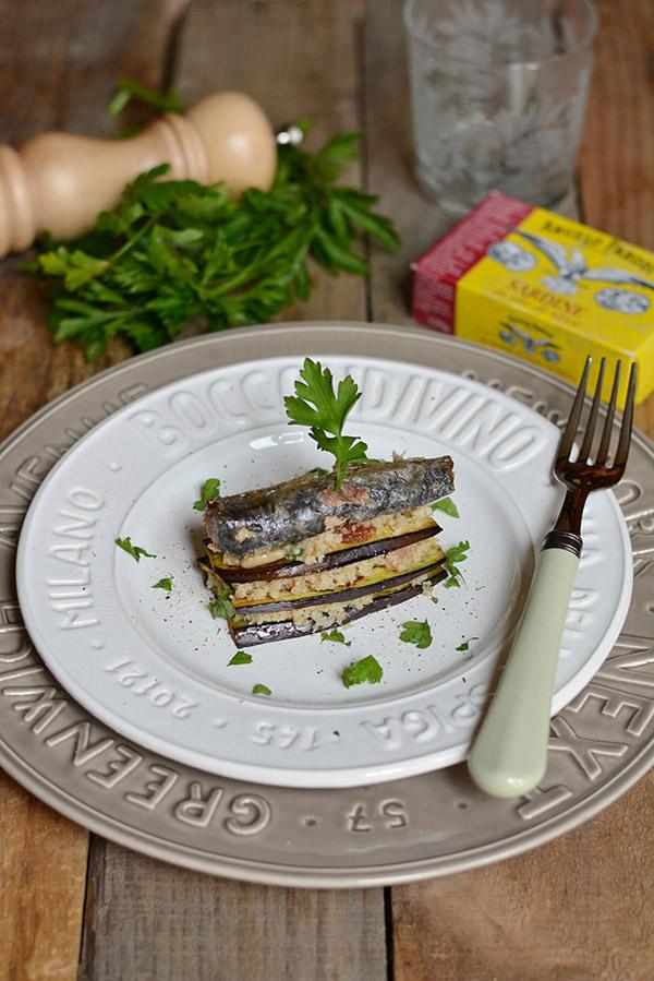 Torretta di melanzane e sardine