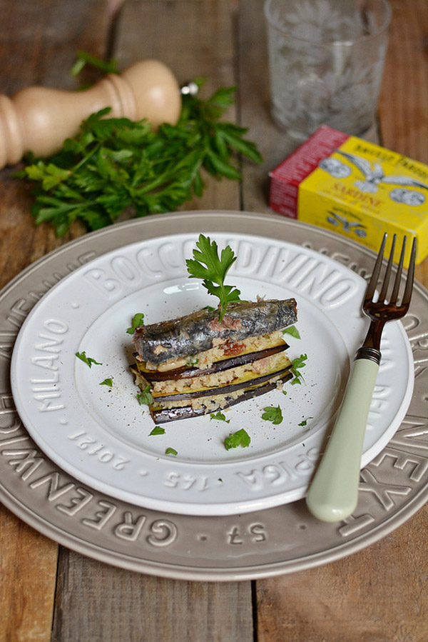 Torretta di melanzane e sardine di Ramona