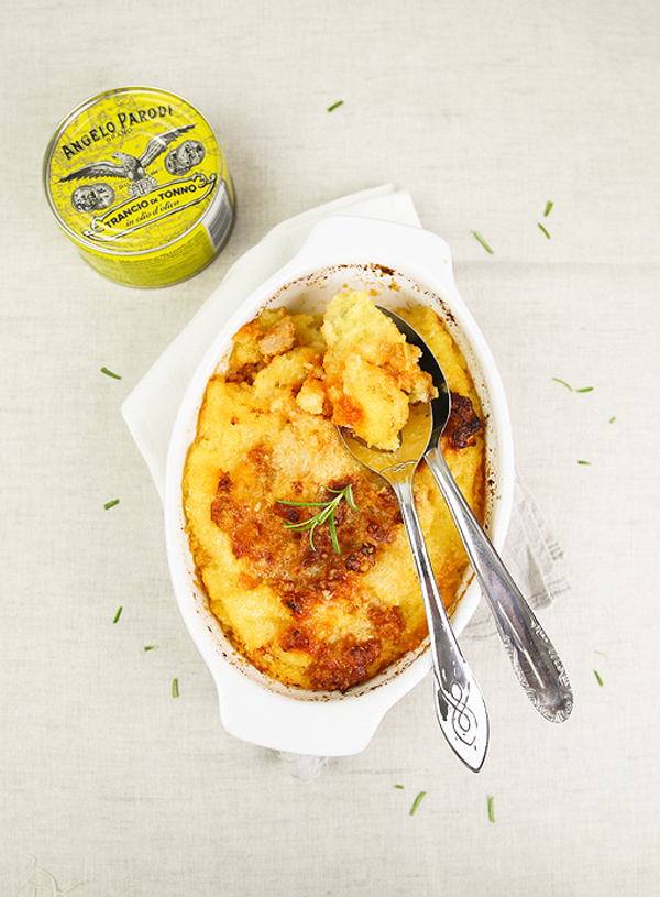 Pasticcio di polenta con tonno e pomodoro di Claudia