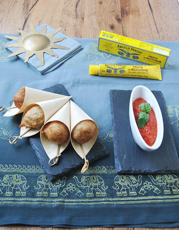 Frittelle di cavolfiore e acciughe