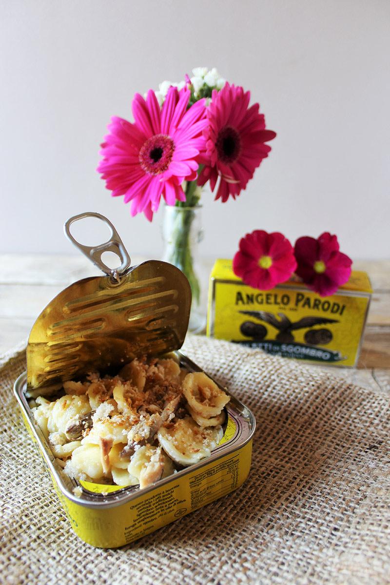 Orecchiette allo sgombro Angelo Parodi con panatura profumata al limone