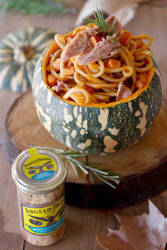 Spaghetti con zucca e tombarello Angelo Parodi