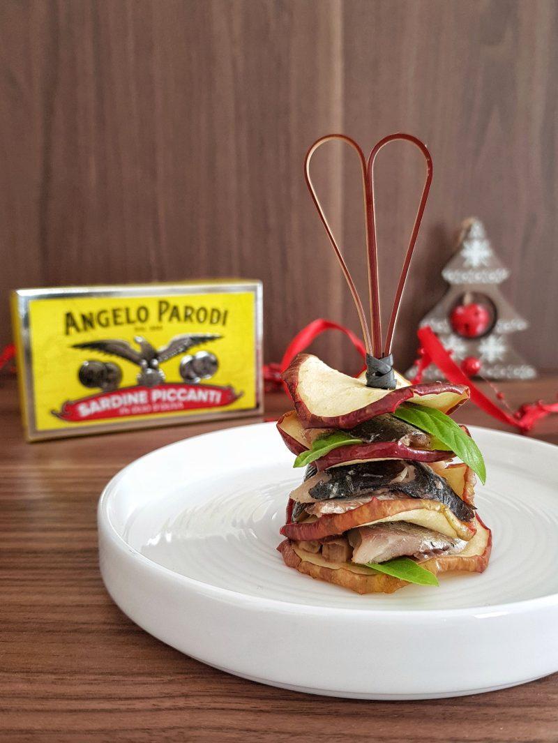 Millefoglie di mele e sardine piccanti Angelo Parodi