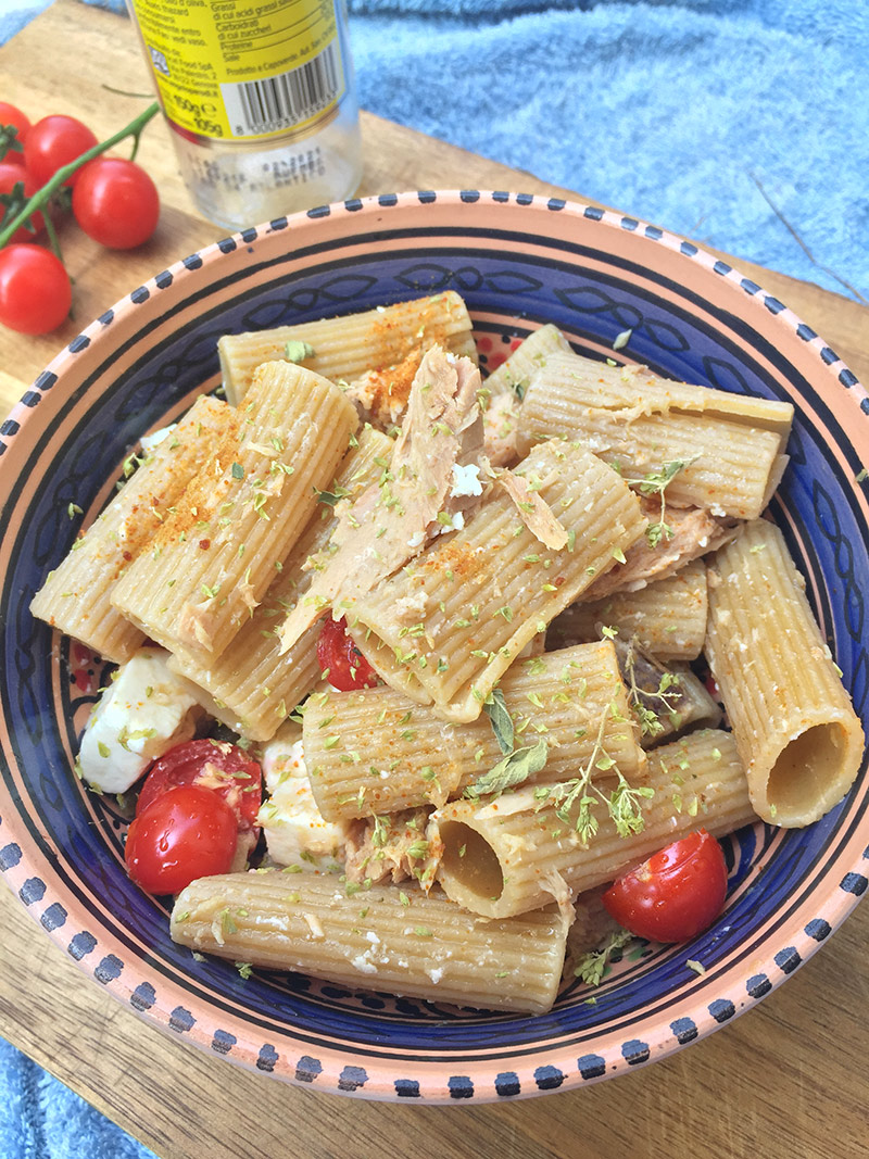 Insalata di pasta all'italiana con filetti di tonno Angelo Parodi