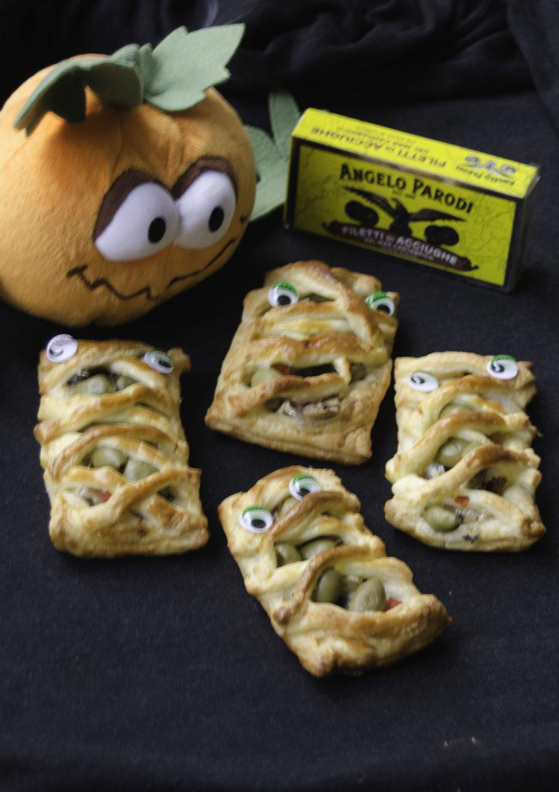 Simpatiche Mummie di Halloween con i Filetti di acciughe del Mar Cantabrico Angelo Parodi